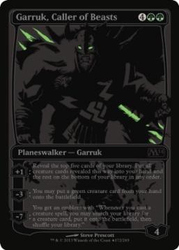 m14 garruk black foil