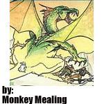 monkey mealing